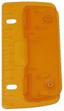 Taschenlocher - zum abheften. ice-orange. Kunststoff. Blister