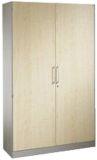 Bürostahlschränke mit Holzdeko-Türen ASISTO Flügeltürenschrank m