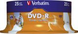 DVD-R - 4.7GB/120Min. 16-fach/Spindel.bedruckbar. Packung mit 25 Stück