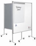 Multiboard XL Whiteboard/Flipchart - 150 x 120 cm, weiß/grau, mit Rollen
